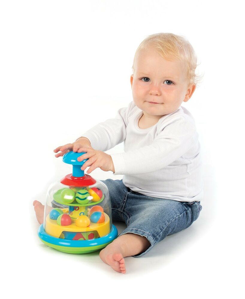 Baby Activity Toys : Baby toddler spinning top balls popping pals activity toy