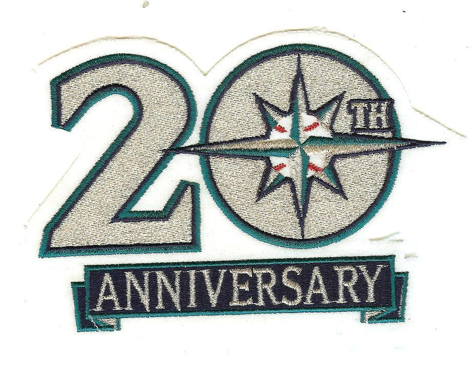 Seattle Mariners 20th Anniversary Logo Patch 100% ...