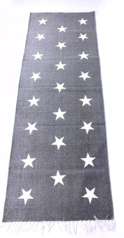 teppich l ufer mit sternen 70 x 200 grau sterne flur rug stars carpet ebay. Black Bedroom Furniture Sets. Home Design Ideas