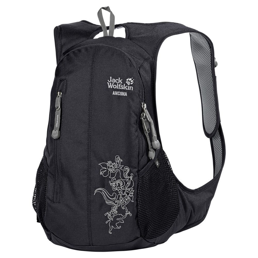 jack wolfskin damen tagesrucksack ancona schwarz black ebay. Black Bedroom Furniture Sets. Home Design Ideas