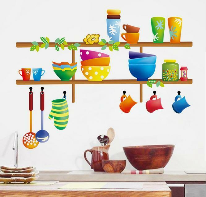 Kitchen Ware Home Bedroom Decor Removable Wall Stickers Decal Decoration Ebay
