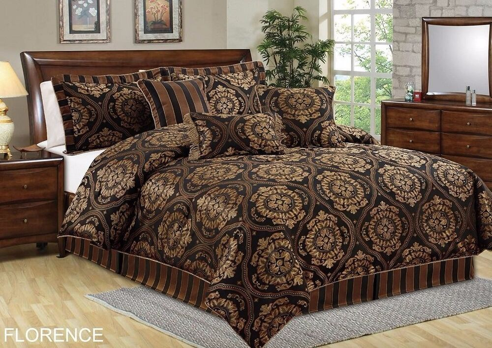 Chezmoi Collection 7-Piece Florence Jacquard Medallion