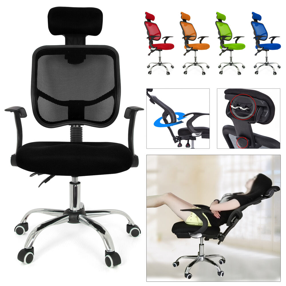 seat height adjustment office computer desk chair chrome