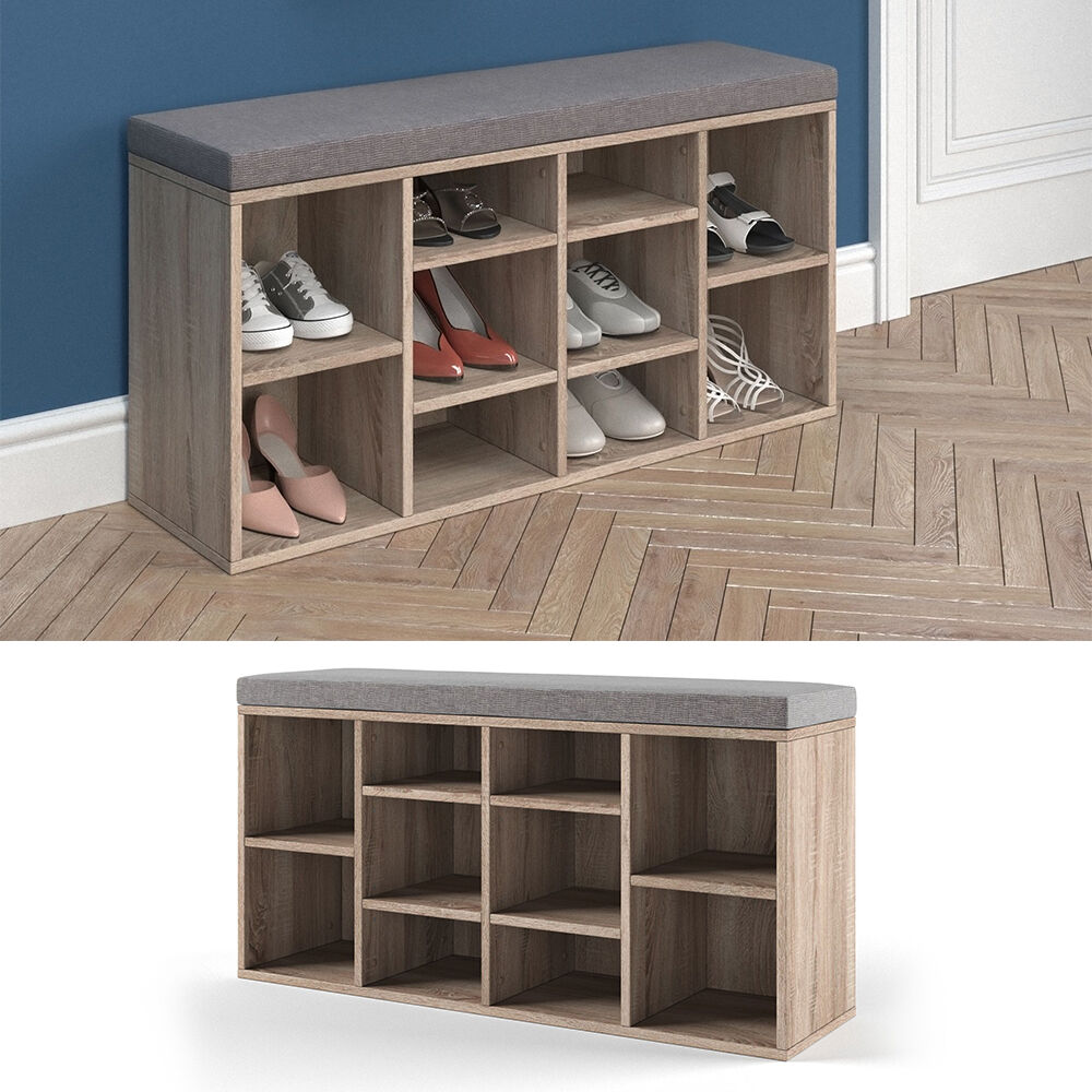 schuhschrank schuhbank schrank bank regal 10 paar schuhe auflage sitzbank sonoma ebay. Black Bedroom Furniture Sets. Home Design Ideas
