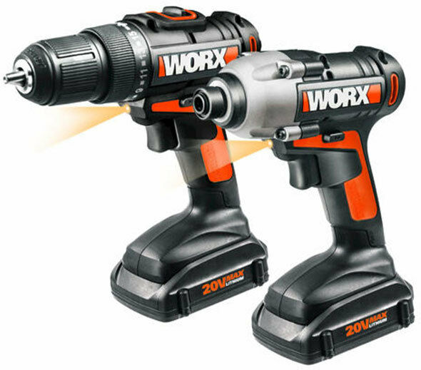wx916l worx 20v 2 piece li ion combo kit with drill and impact driver ebay. Black Bedroom Furniture Sets. Home Design Ideas