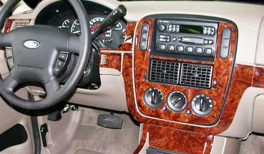 ford explorer 2wd 4wd interior burl wood dash trim kit set. Black Bedroom Furniture Sets. Home Design Ideas