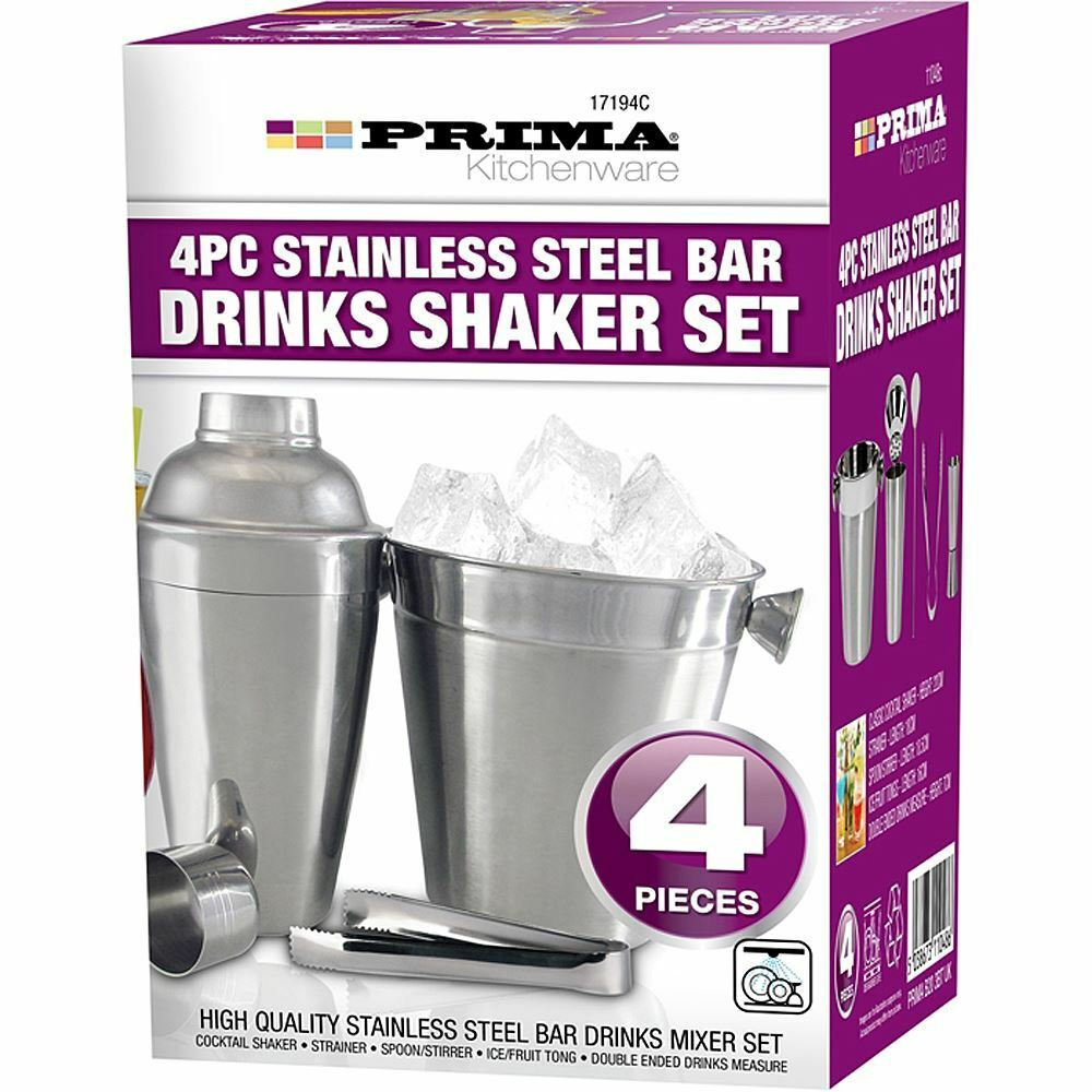 cocktail set shaker bar mixer stainless steel kit drink silver ebay. Black Bedroom Furniture Sets. Home Design Ideas