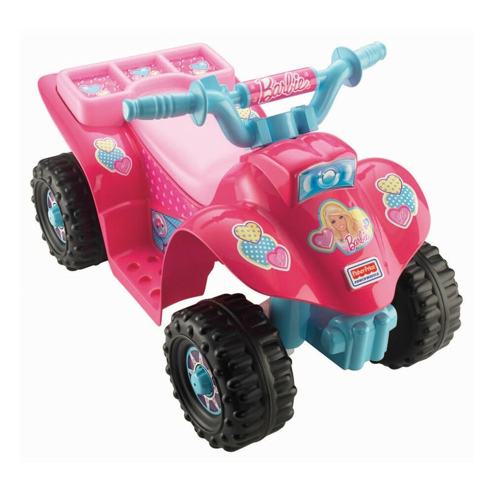 Fisher Price Power Wheels Barbie Lil 39 Quad Atv Electric