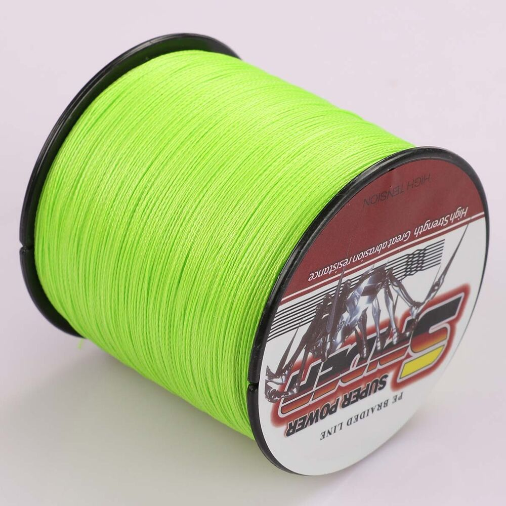 Spider 100m 2000m 6 300lb test fluorescent green dyneema for Fluorescent fishing line