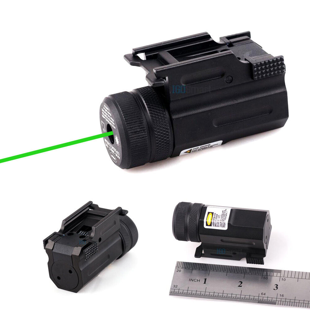Mini Tactical Green Laser Sight Scope Picatinny Rail Mount