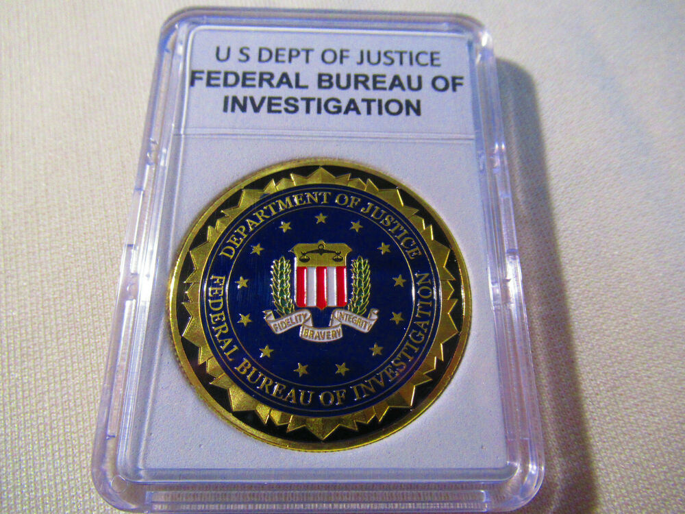 federal bureau of investigation fbi challenge coin ebay. Black Bedroom Furniture Sets. Home Design Ideas