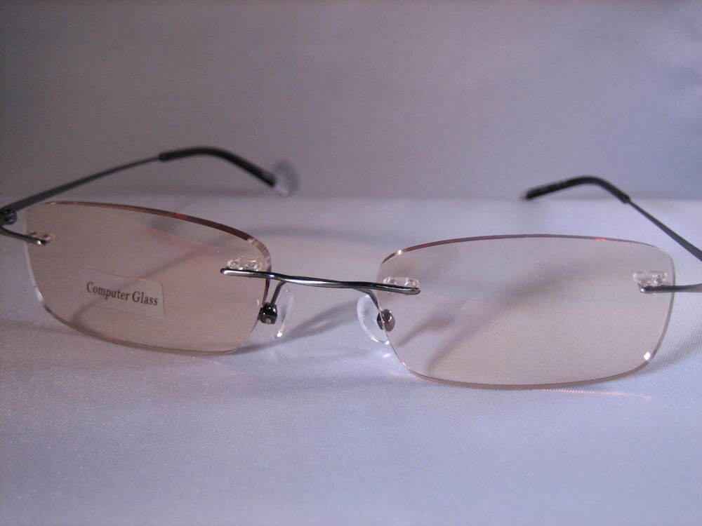 Rimless COMPUTER READING EYEWEAR almost invisible w/ FREE ...