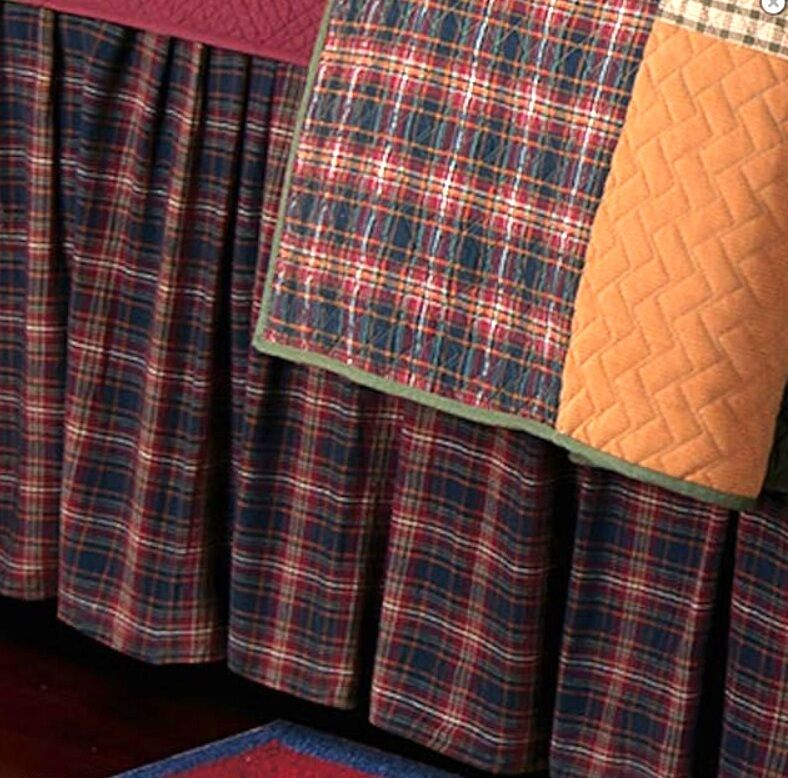 Plaid Twin Bed Skirt