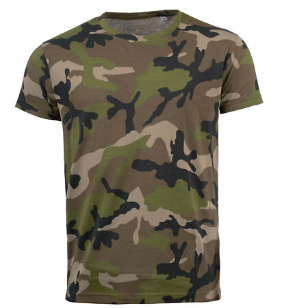 img-SOLS MENS CAMOUFLAGE CAMO SLIM FIT T-SHIRT - 01188 - BRAND NEW