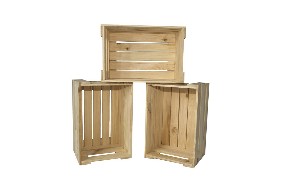3er set weinkisten aus holz holzkiste apfelkiste obstkiste. Black Bedroom Furniture Sets. Home Design Ideas