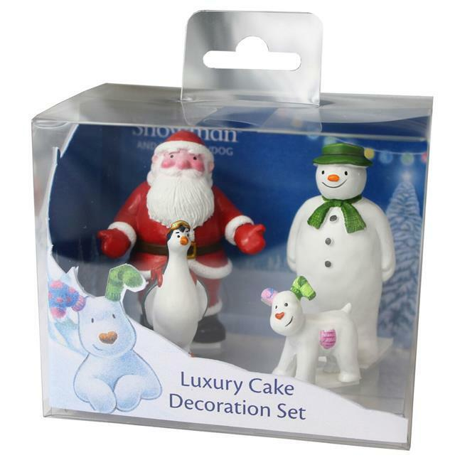 The Snowman & The Snowdog Luxury Cake Figurine Set of 4 eBay