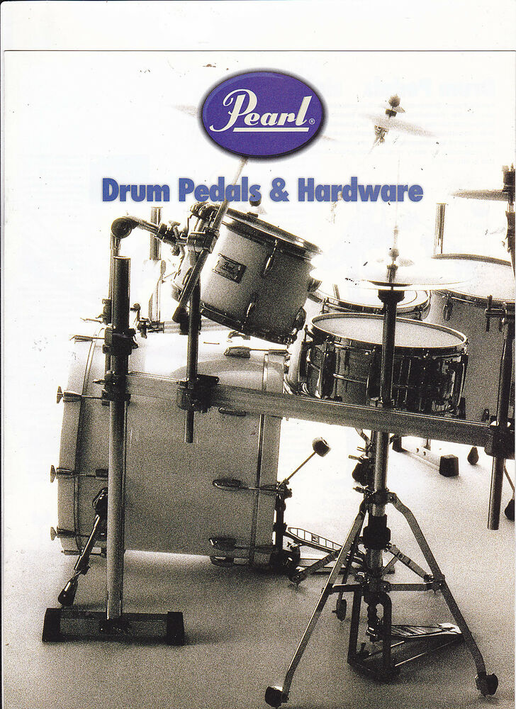 vintage musical instrument catalog 10587 pearl drum pedals and hardware ebay. Black Bedroom Furniture Sets. Home Design Ideas