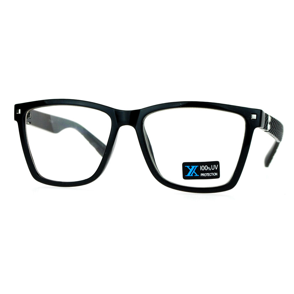 Eyeglasses Frame Square : Womens Clear Lens Glasses Square Designer Frame Eyeglasses ...