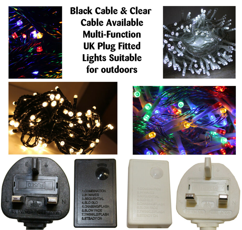 MAINS Powered LED Indoor OUTDOOR CHRISTMAS Tree Lights