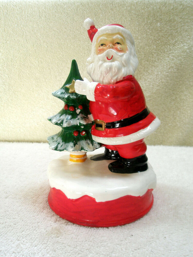 Vintage santa music box tree berman anderson here