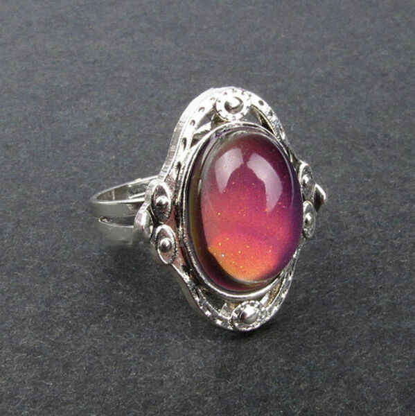 Style 1 PC New Mood Ring Changing Color Fashion Adjustable Temperature Control