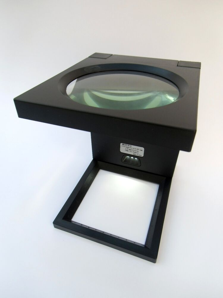 large led magnifying glass magnifier stand hands free new ebay. Black Bedroom Furniture Sets. Home Design Ideas