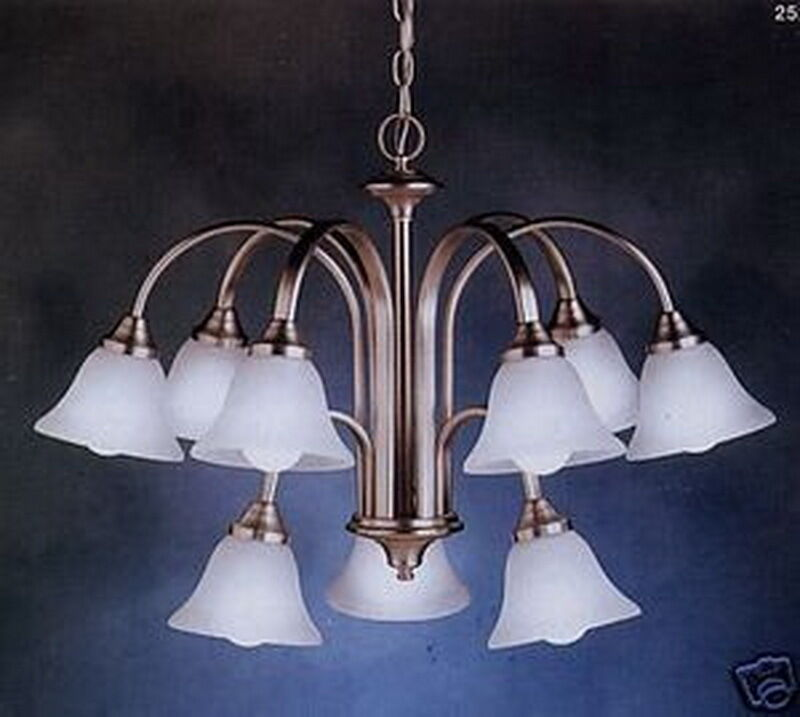 Discount Lighting Store: Kichler 9 Light 2 Tier Brushed Nickel Chandelier With