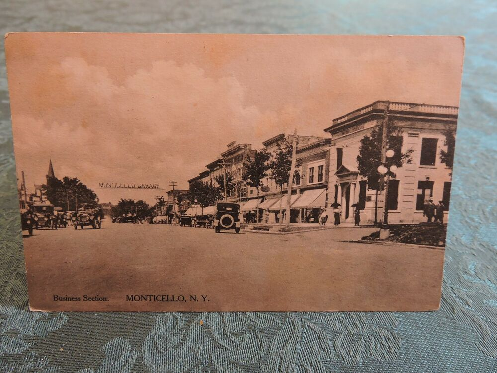 1917 Monticello New York NY Mailed Post Card