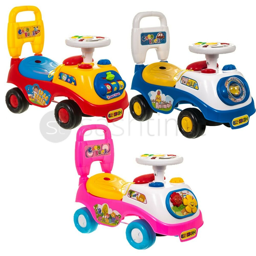 new my first ride on kids toy car boys girls push along toddlers infants walker ebay