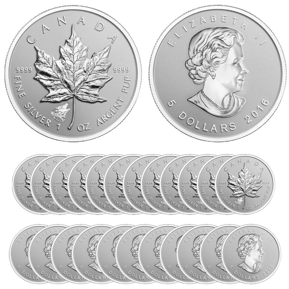 2016 Wolf Privy Silver Canadian Maple Leaf Reverse Proof
