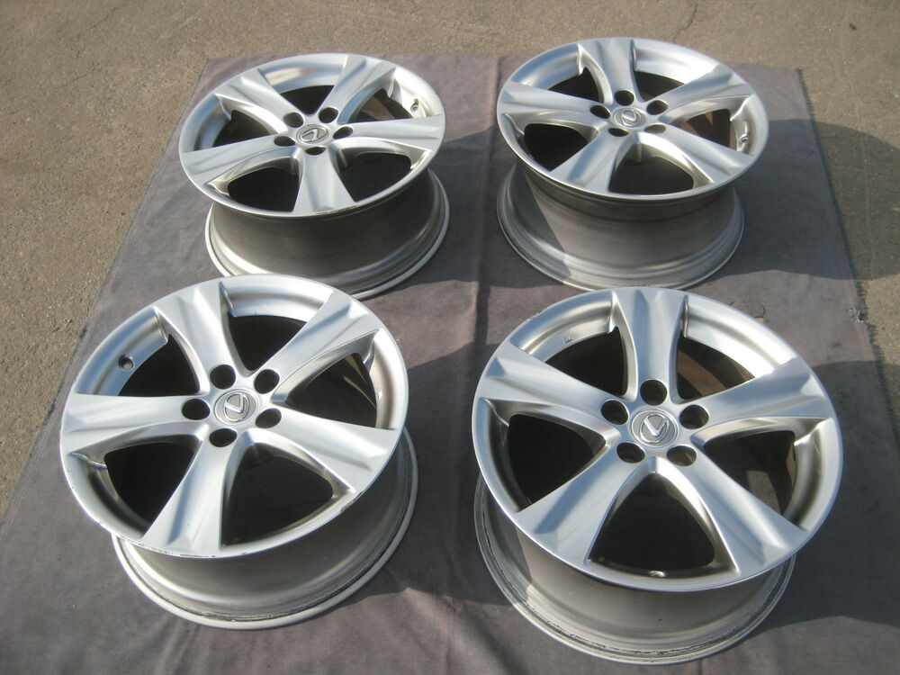 set of 4 used factory 18 lexus is350 is250 covertible oem wheels rims 2006 15 ebay. Black Bedroom Furniture Sets. Home Design Ideas