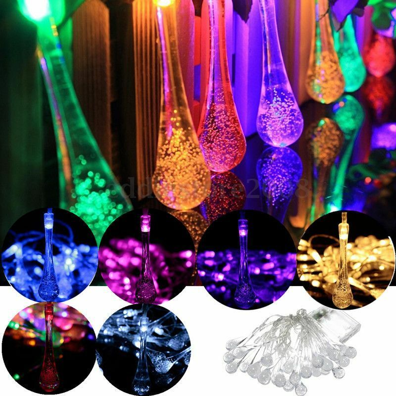30led Battery Type Solar Party Wedding Water Drop