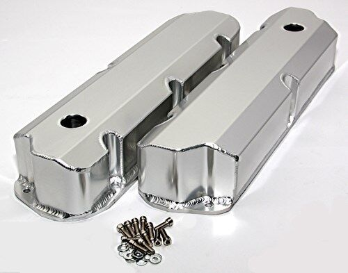 Sbf Ford Polished Fabricated Aluminum Valve Covers Short