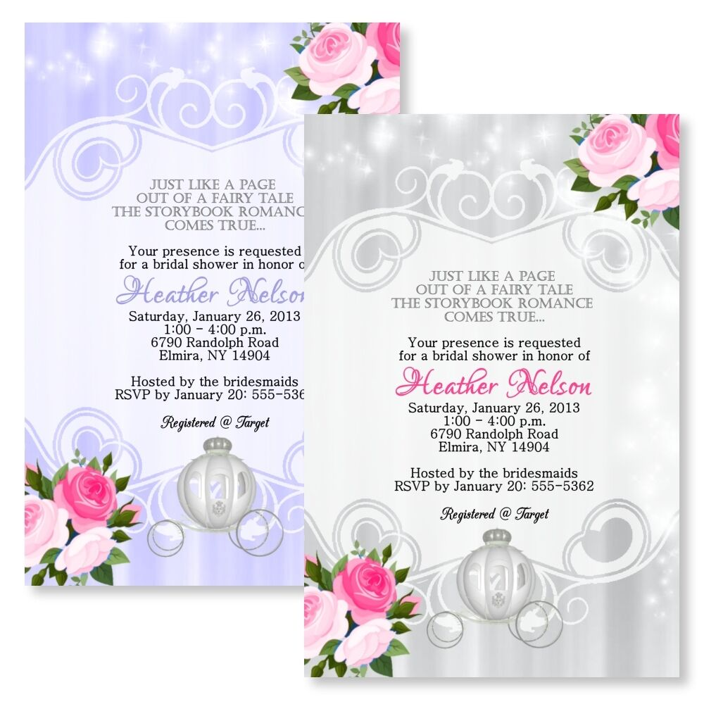 Fairytale Personalized Bridal Shower Invitations Wedding