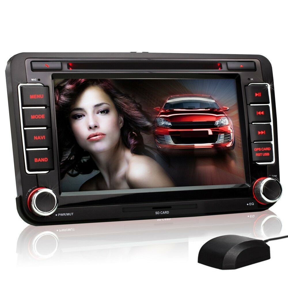 autoradio f r vw skoda seat mit gps navigation navi bluetooth dvd cd usb sd mp3 ebay. Black Bedroom Furniture Sets. Home Design Ideas