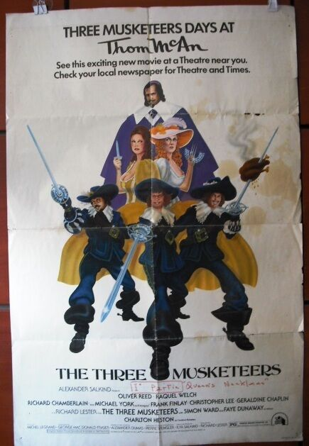 the three musketeers oliver reed original vintage movie