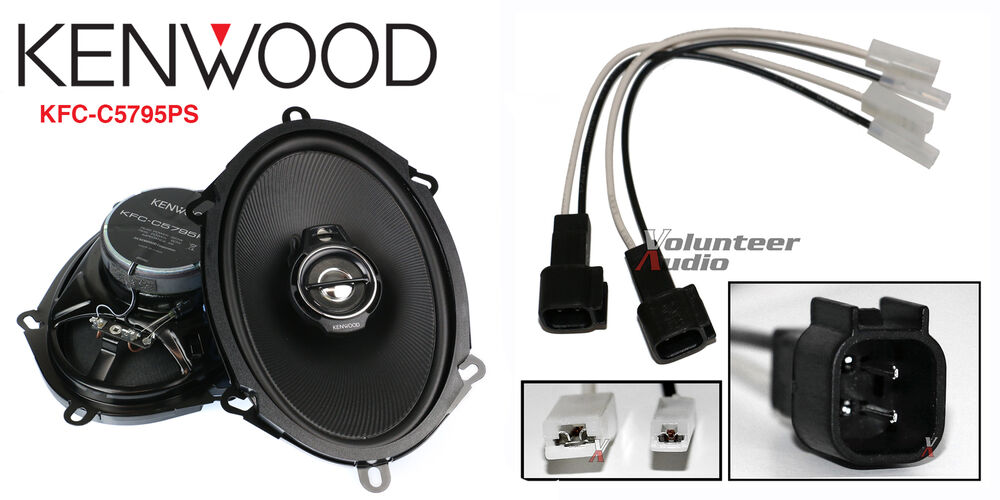 kenwood kfc-c5795ps 5x7 speakers with wiring harness fits ... kenwood to ford wiring harness ford wiring harness to pioneer