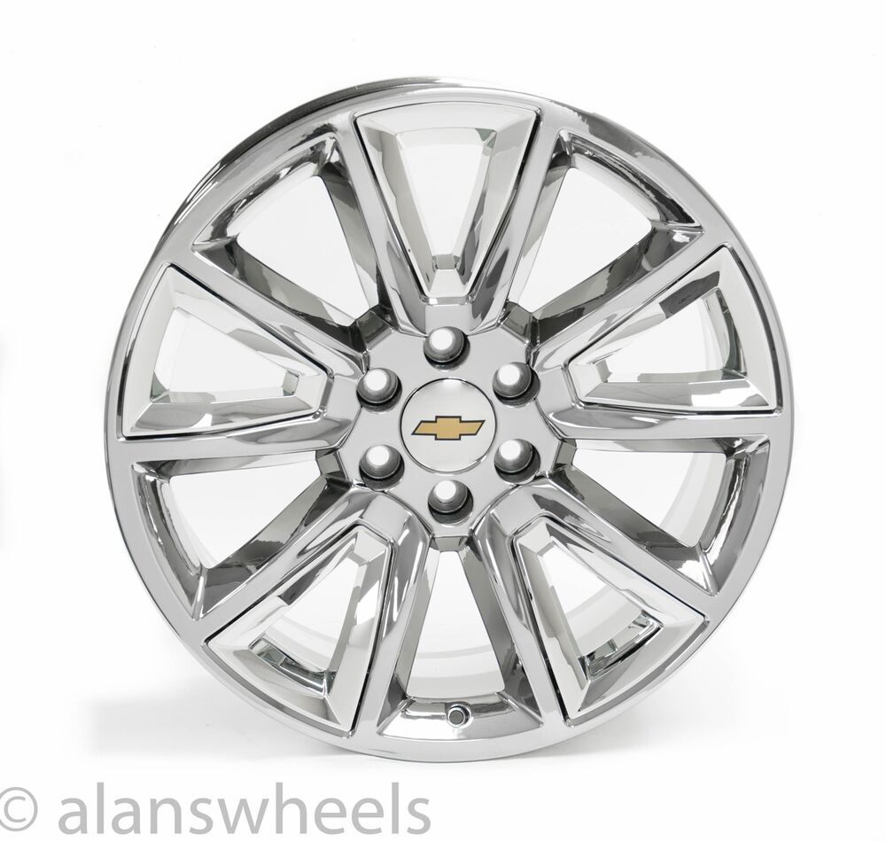 new chevy silverado tahoe suburban avalanche chrome 22 quot wheels rims 5696 ebay
