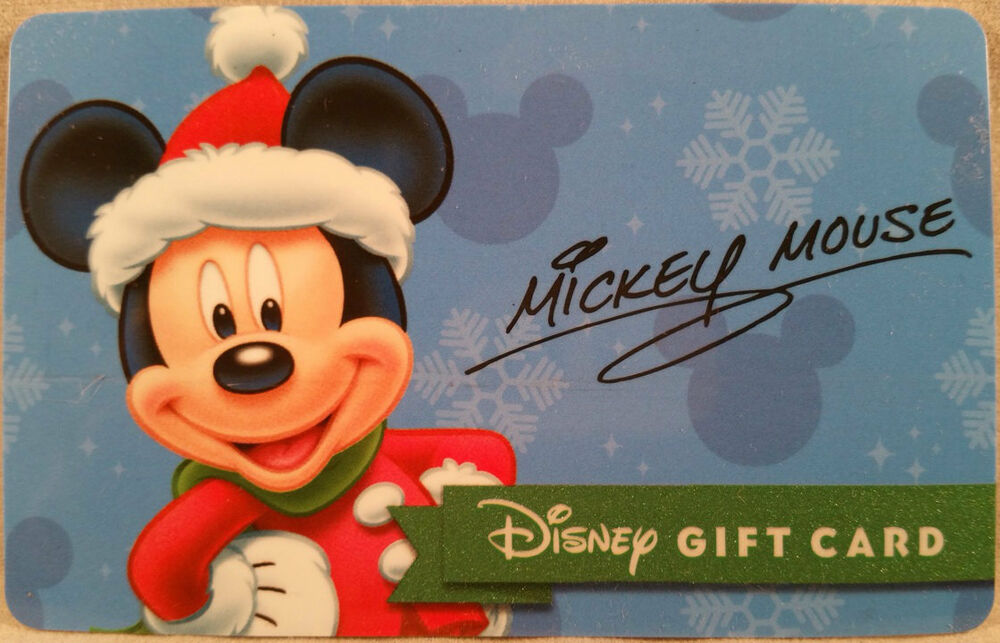 mickey mouse christmas 2015 holiday promo disney collectible gift card ebay. Black Bedroom Furniture Sets. Home Design Ideas