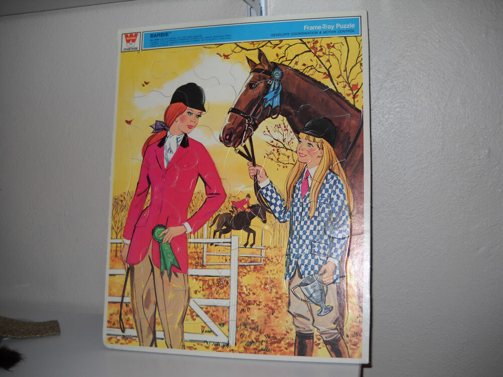 Vintage Whitman 1972 Barbie Frame Tray Puzzle Ebay