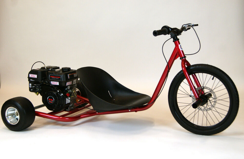 new 212cc predator gas powered drift trike candy red ebay. Black Bedroom Furniture Sets. Home Design Ideas