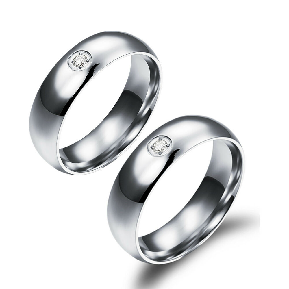 Wedding Rings For Her: His And Her Promise Rings Wedding Band Rings Crystal