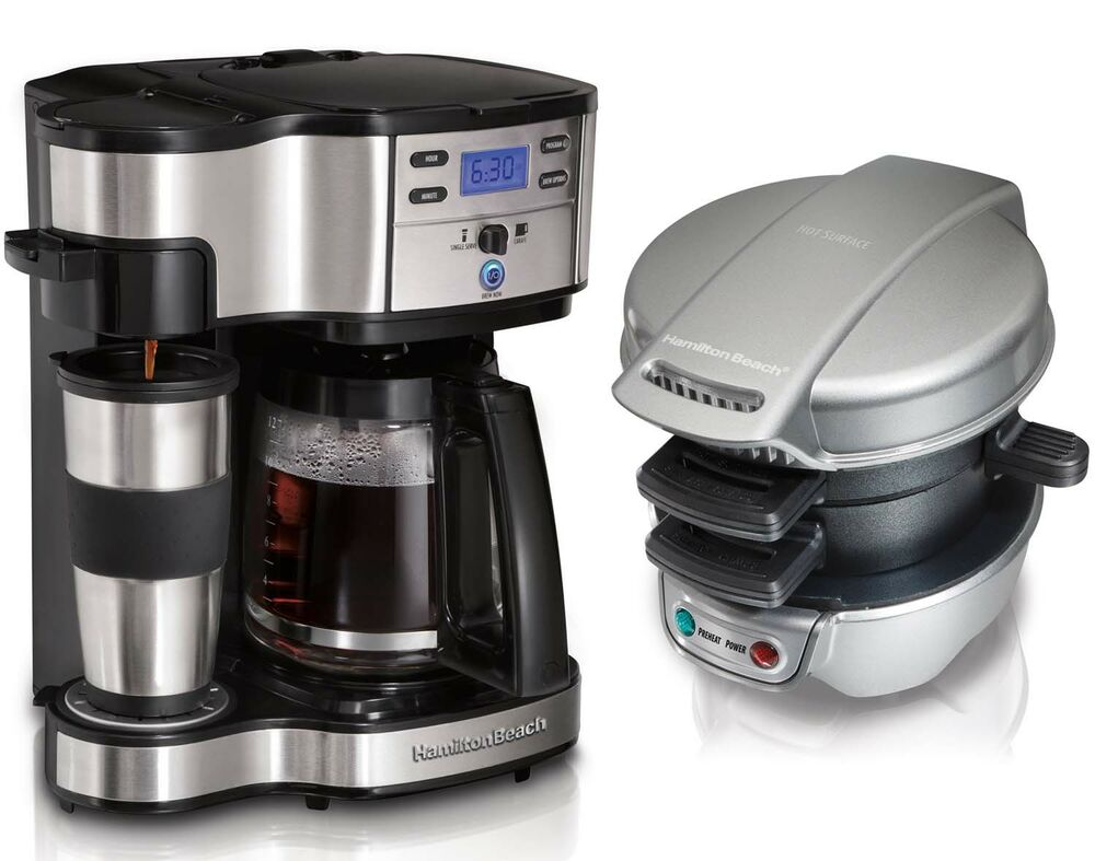 Hanabishi Coffee Maker 1 Cup : Hamilton Beach Single-Serve or 12-Cup Coffee Maker + Breakfast Sandwich Maker eBay