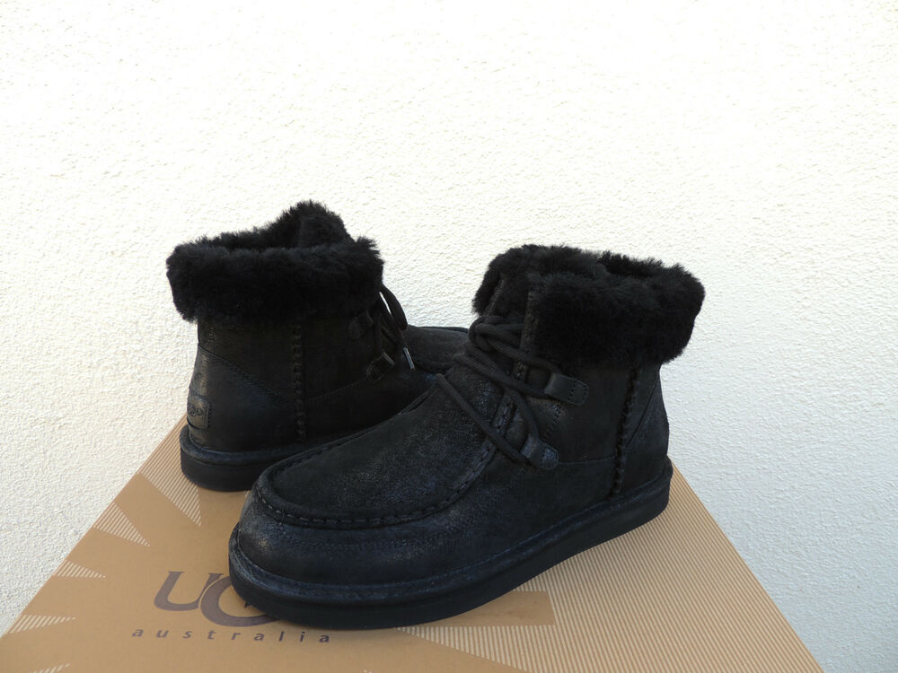 ugg cypress black water resistant sheepskin ankle boots. Black Bedroom Furniture Sets. Home Design Ideas