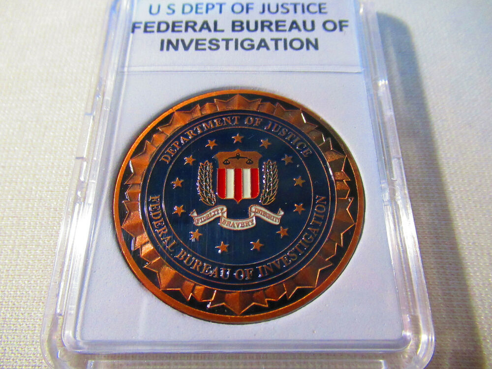 federal bureau of investigation fbi challenge coin copper ebay. Black Bedroom Furniture Sets. Home Design Ideas