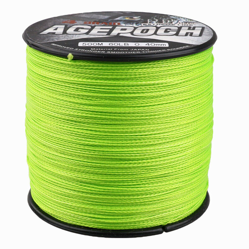 Agepoch 100m 2000m 6 300lb test fluorescent green dyneema for Fluorescent fishing line