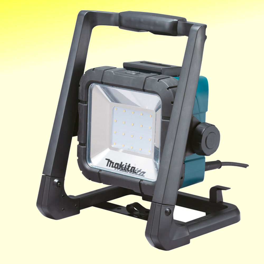 makita deadml805 makita led akku netz baustrahler baustellenstrahler bau lampe ebay. Black Bedroom Furniture Sets. Home Design Ideas