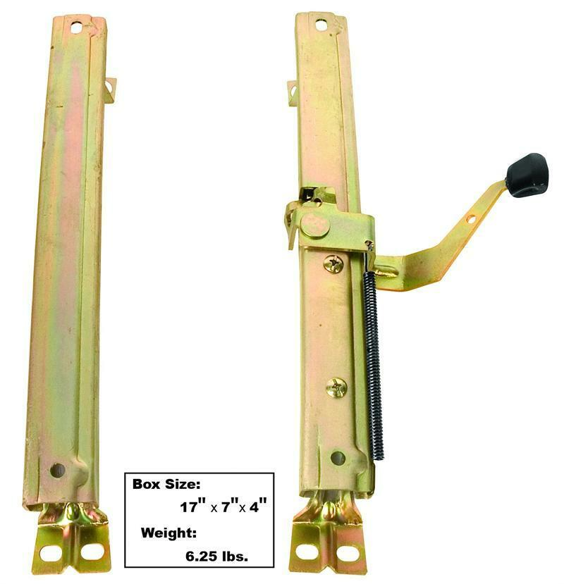 68 72 Gm A Body Bucket Seat Track Adjuster Assembly Plated