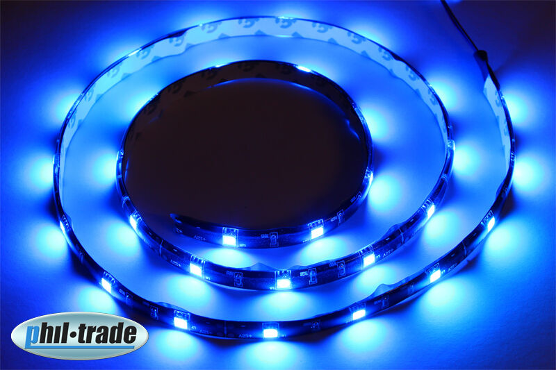 100cm led leiste strip lichtleiste 12v blau 30 x 5050 smd selbstklebend ebay. Black Bedroom Furniture Sets. Home Design Ideas