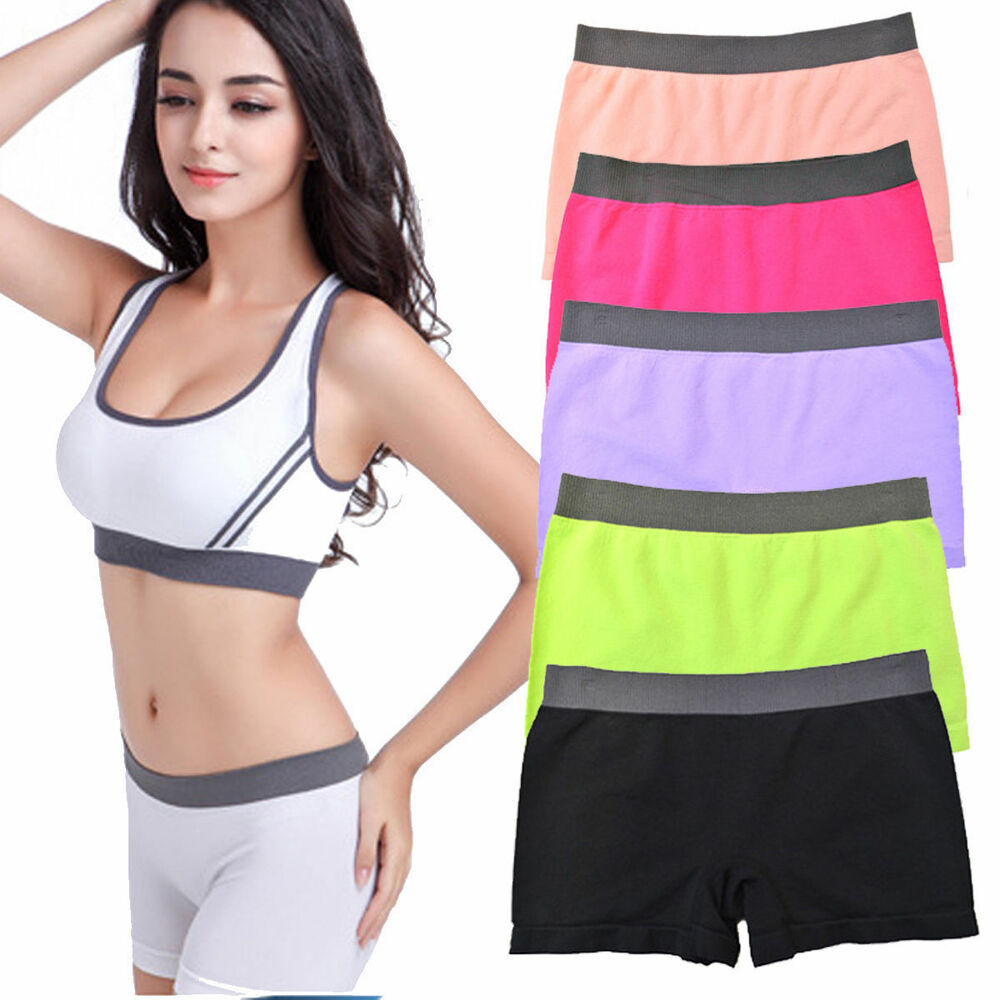 1pc Women Stretch Shorts Solid Colors Spandex Workout